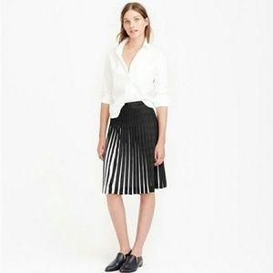 J. Crew Stitched Sunburst skirt